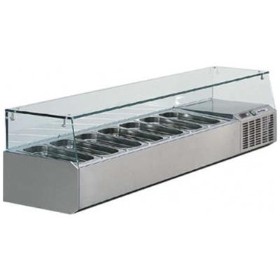 Kühlaufsatz / Kühlaufsatzvitrine für GN Behälter