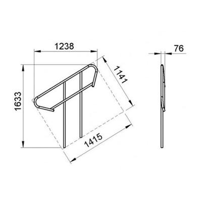 Aluminium-Treppengeländer für 3-4-stufige modulare Treppen
