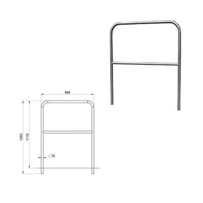 Aluminium-Geländer für Bühnenpodeste 1m