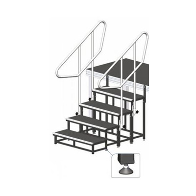 Modulare Treppe, Höhe 40 cm / Bühnentreppe
