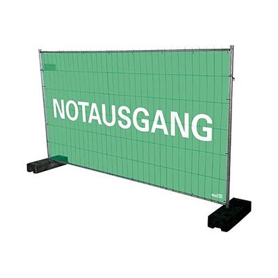 Notausgangsplane / Notausgangsbeschilderung / Sichtschutzplane