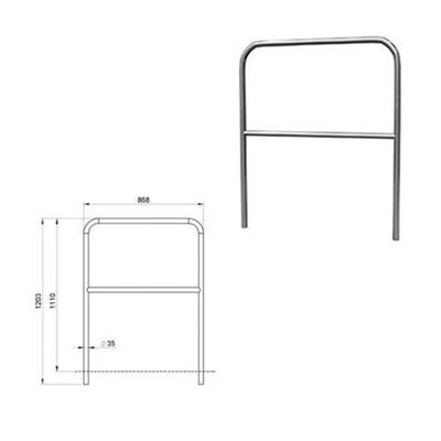 Aluminium-Geländer / Bühne für Bühnenpodeste 1m