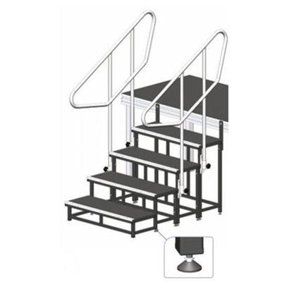 Modulare Treppe / Bühne, Höhe 80cm / Bühnentreppe