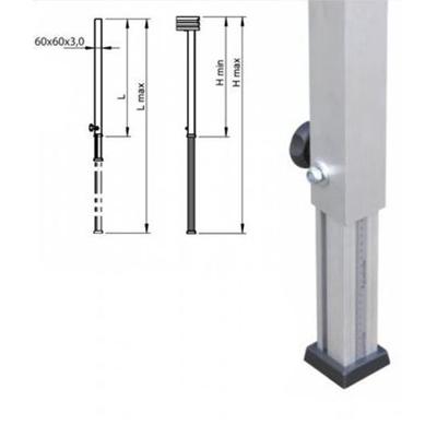 Teleskopfuß / Bühne, 0,40m - 0,60m/ Bühnenfuß verstellbar