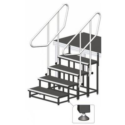 Modulare Treppe / Bühne, Höhe 60cm / Bühnentreppe