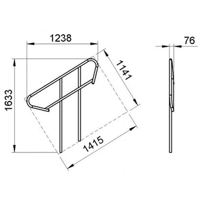 Aluminium-Treppengeländer / Bühne, für 3-4-stufige modulare Treppen
