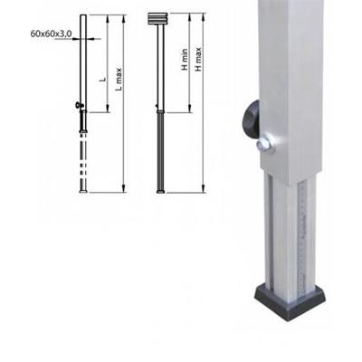 Teleskopfuß / Bühne, 0,60m - 1,00m / Bühnenfuß verstellbar
