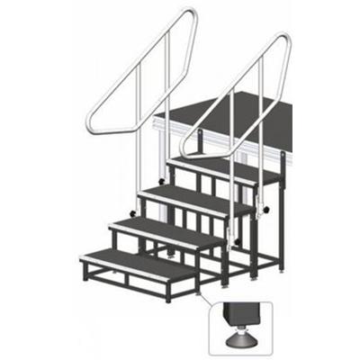 Modulare Treppe / Bühne, Höhe 20cm / Bühnentreppe