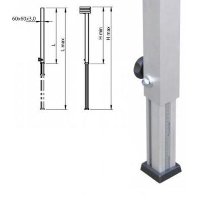 Teleskopfuß 0,60m - 1,00m / Bühnenfuß verstellbar