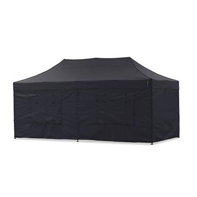 Faltpavillon 6x3m / Faltzelt / Partyzelt / Schnellaufbauzelt (schwarz)